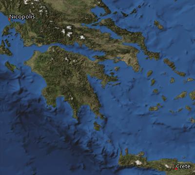 Satellite image of the places in Titus